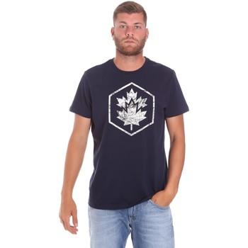 vaatteet Miehet Lyhythihainen t-paita Lumberjack CM60343 023EU Sininen