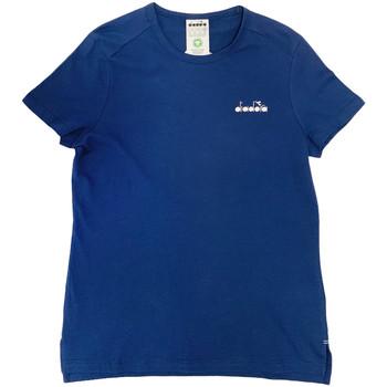 vaatteet Naiset Lyhythihainen t-paita Diadora 102175882 Sininen