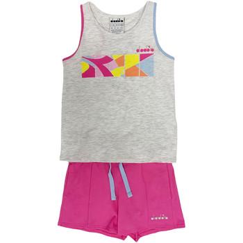 vaatteet Lapset Verryttelypuvut Diadora 102175900 Harmaa