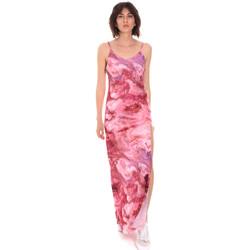 vaatteet Naiset Pitkä mekko Me Fui M20-0958X1 Vaaleanpunainen