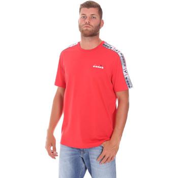 vaatteet Miehet Lyhythihainen t-paita Diadora 502176085 Punainen