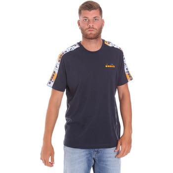 vaatteet Miehet Lyhythihainen t-paita Diadora 502176085 Sininen
