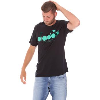 vaatteet Miehet Lyhythihainen t-paita Diadora 502176633 Musta