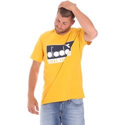 vaatteet Miehet Lyhythihainen t-paita Diadora 502175835 Keltainen