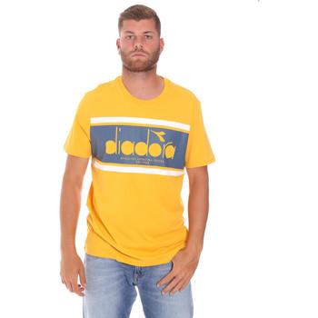 vaatteet Miehet Lyhythihainen t-paita Diadora 502176632 Keltainen