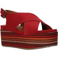 kengät Naiset Sandaalit ja avokkaat Onyx S20-SOX753 Punainen