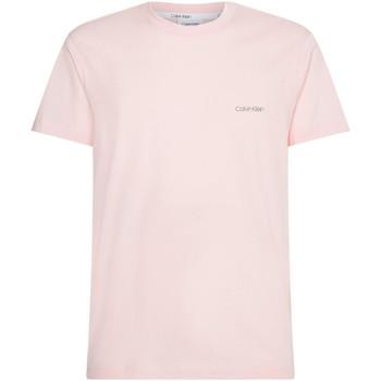 vaatteet Miehet Lyhythihainen t-paita Calvin Klein Jeans K10K103307 Vaaleanpunainen
