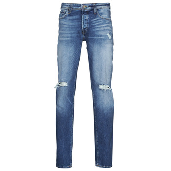 vaatteet Miehet Slim-farkut Jack & Jones JJITIM JJORIGINAL Sininen