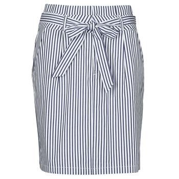 vaatteet Naiset Hame Vero Moda VMEVA Sininen / Valkoinen
