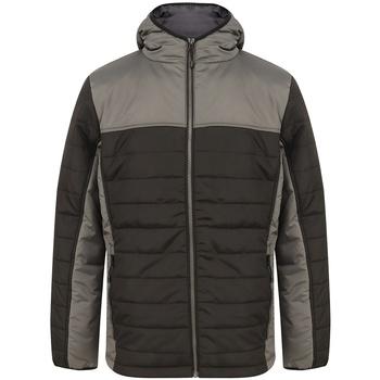 vaatteet Miehet Toppatakki Finden & Hales LV660 Black/Gunmetal Grey