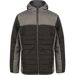 vaatteet Toppatakki Finden & Hales LV660 Black/Gunmetal Grey