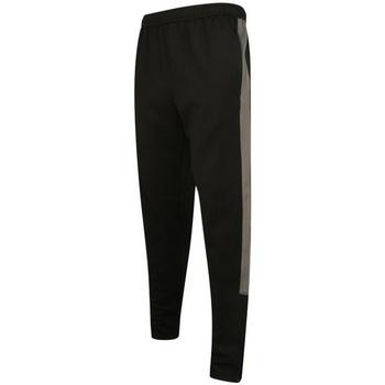 vaatteet Miehet Verryttelyhousut Finden & Hales LV881 Black/Gunmetal Grey