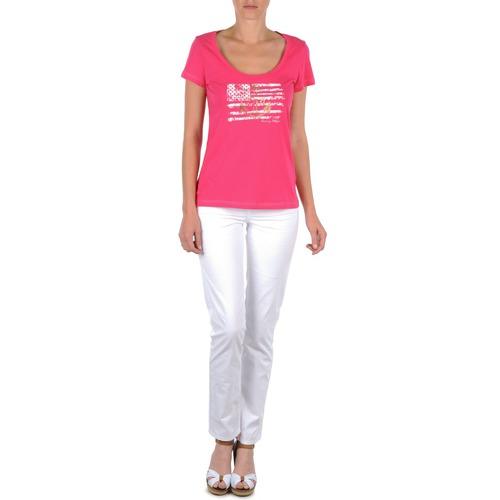 vaatteet Naiset 5-taskuiset housut Tommy Hilfiger LENNY Pink