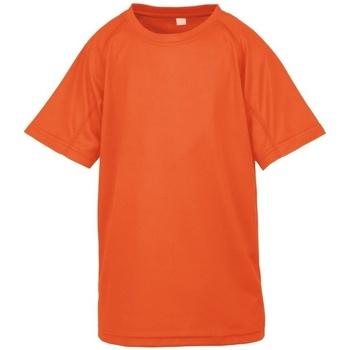 vaatteet Pojat Lyhythihainen t-paita Spiro S287J Flo Orange