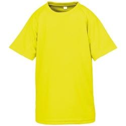 vaatteet Pojat Lyhythihainen t-paita Spiro S287J Flo Yellow