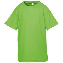 vaatteet Pojat Lyhythihainen t-paita Spiro S287J Lime