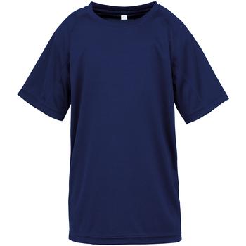 vaatteet Pojat Lyhythihainen t-paita Spiro S287J Navy