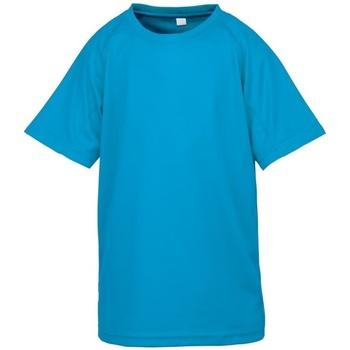 vaatteet Pojat Lyhythihainen t-paita Spiro S287J Ocean Blue