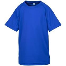 vaatteet Pojat Lyhythihainen t-paita Spiro S287J Royal Blue