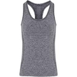 vaatteet Naiset Hihattomat paidat / Hihattomat t-paidat Tridri TR209 Charcoal