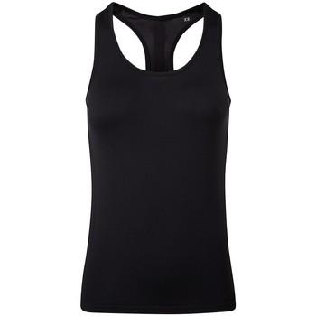 vaatteet Naiset Hihattomat paidat / Hihattomat t-paidat Tridri TR209 Full Black