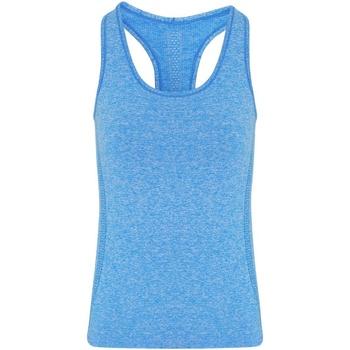 vaatteet Naiset Hihattomat paidat / Hihattomat t-paidat Tridri TR209 Sapphire Blue