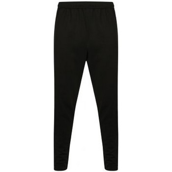 vaatteet Miehet Verryttelyhousut Finden & Hales  Black/Gunmetal Grey