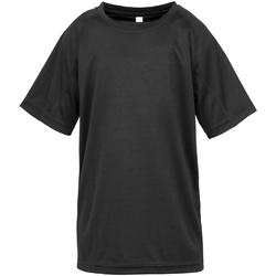 vaatteet Lapset Lyhythihainen t-paita Spiro SR287B Black