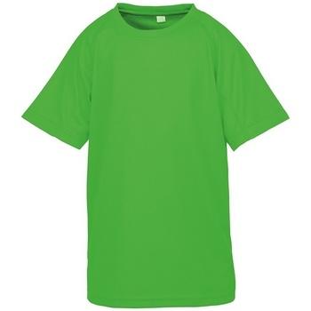 vaatteet Lapset Lyhythihainen t-paita Spiro SR287B Flo Green