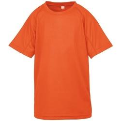 vaatteet Lapset Lyhythihainen t-paita Spiro SR287B Flo Orange