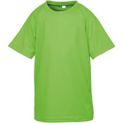 vaatteet Lapset Lyhythihainen t-paita Spiro SR287B Lime Punch