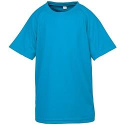 vaatteet Lapset Lyhythihainen t-paita Spiro SR287B Ocean Blue