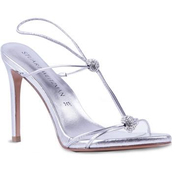 kengät Naiset Sandaalit ja avokkaat Stuart Weitzman VL09249 argento