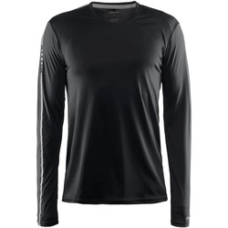 vaatteet Miehet T-paidat pitkillä hihoilla Craft CT089 Black