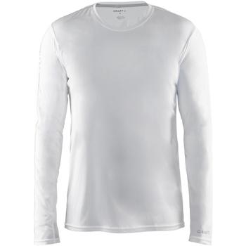 vaatteet Miehet T-paidat pitkillä hihoilla Craft CT089 White