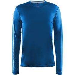 vaatteet Miehet T-paidat pitkillä hihoilla Craft CT089 Swedish Blue