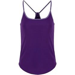 vaatteet Naiset Topit / Puserot Tridri TR043 Bright Purple/Purple Melange