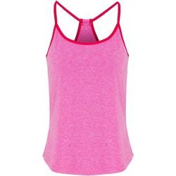 vaatteet Naiset Topit / Puserot Tridri TR043 Pink Melange/Hot Pink