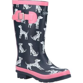 kengät Tytöt Kumisaappaat Cotswold  Navy/Pink