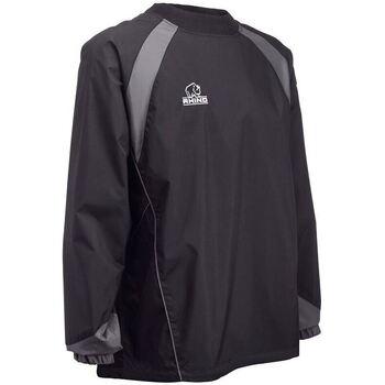 vaatteet T-paidat pitkillä hihoilla Rhino RH017 Black/Grey