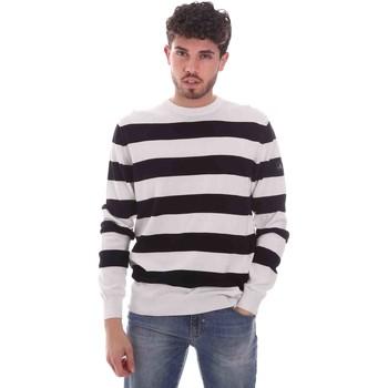 vaatteet Miehet Neulepusero Navigare NV00232 30 Valkoinen