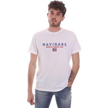 vaatteet Miehet Lyhythihainen t-paita Navigare NV31139 Valkoinen