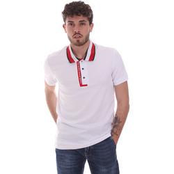 vaatteet Miehet Lyhythihainen poolopaita Gaudi 111GU64105 Valkoinen