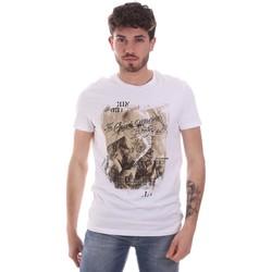vaatteet Miehet Lyhythihainen t-paita Gaudi 111GU64091 Valkoinen