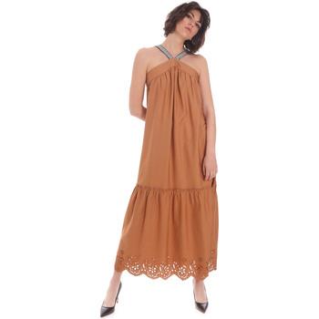 vaatteet Naiset Pitkä mekko Gaudi 111FD15012 Ruskea