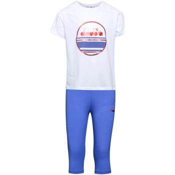 vaatteet Lapset Verryttelypuvut Diadora 102175918 Valkoinen