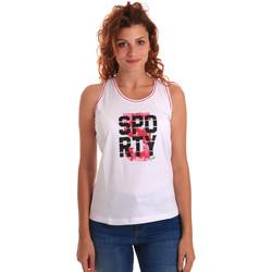 vaatteet Naiset Hihattomat paidat / Hihattomat t-paidat Key Up 5G60S 0001 Valkoinen