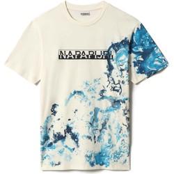 vaatteet Miehet Lyhythihainen t-paita Napapijri NP0A4FD4 Valkoinen