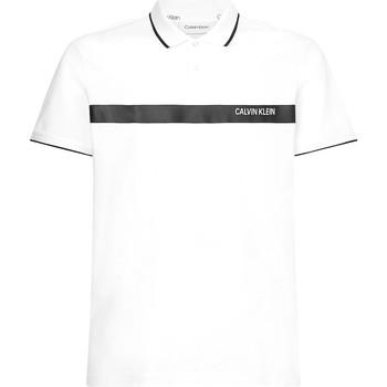 vaatteet Miehet Lyhythihainen poolopaita Calvin Klein Jeans K10K106458 Valkoinen