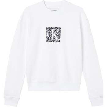vaatteet Naiset Svetari Calvin Klein Jeans J20J215566 Valkoinen